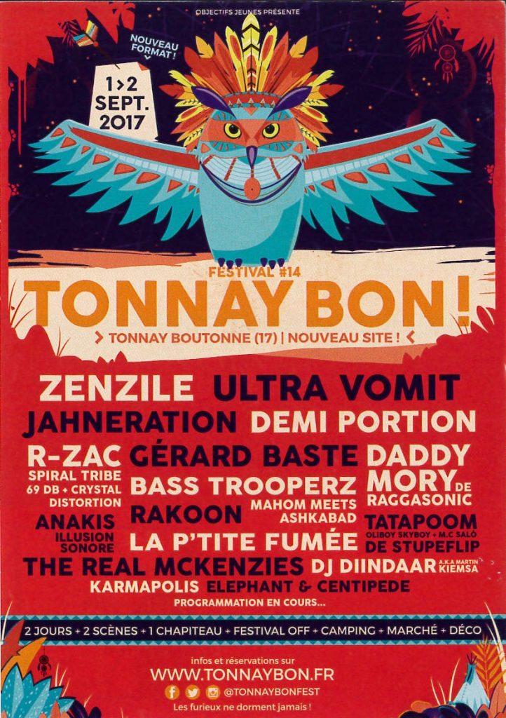 Festival Tonnay Bon ! – 1 et 2 septembre