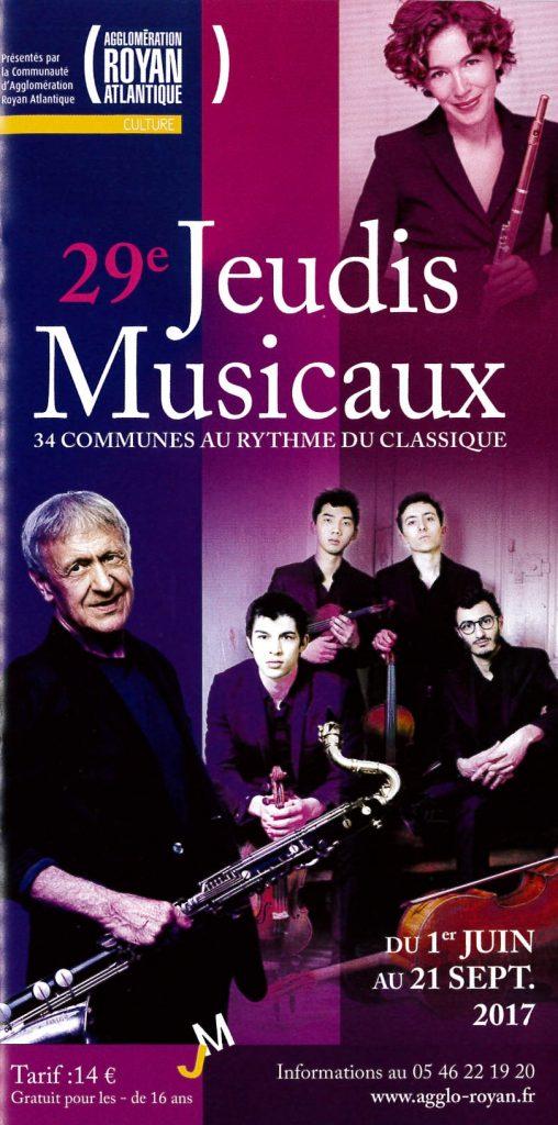Jeudis Musicaux (31 aout et 1er septembre)
