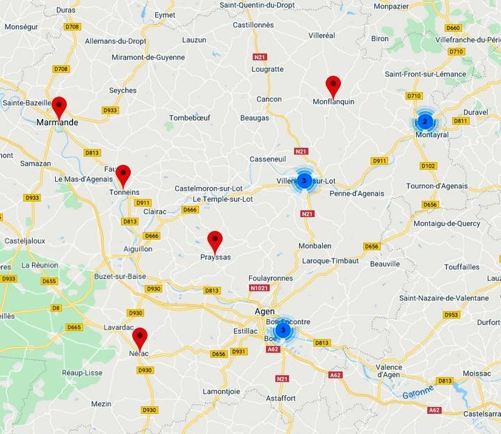 Lieux scéniques dans le Lot-et-Garonne : nouvelles entrées